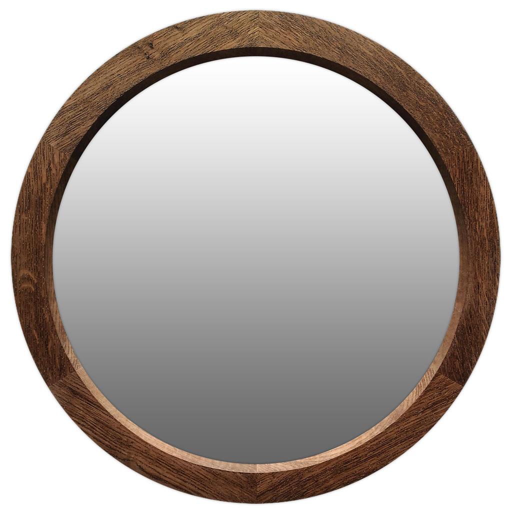 круглое деревянное зеркало